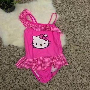 dafd87967c Sanrio Hello Kitty Swimwear Bathing Suit Sz 5T